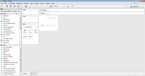 self-service analytics - tableau - first screen
